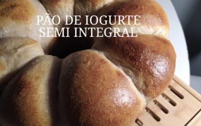 Pão de Iogurte fofinho SEMI-INTEGRAL com Fermentação Natural